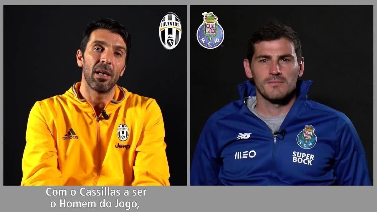 Confira duelo de memória entre Buffon e Casillas