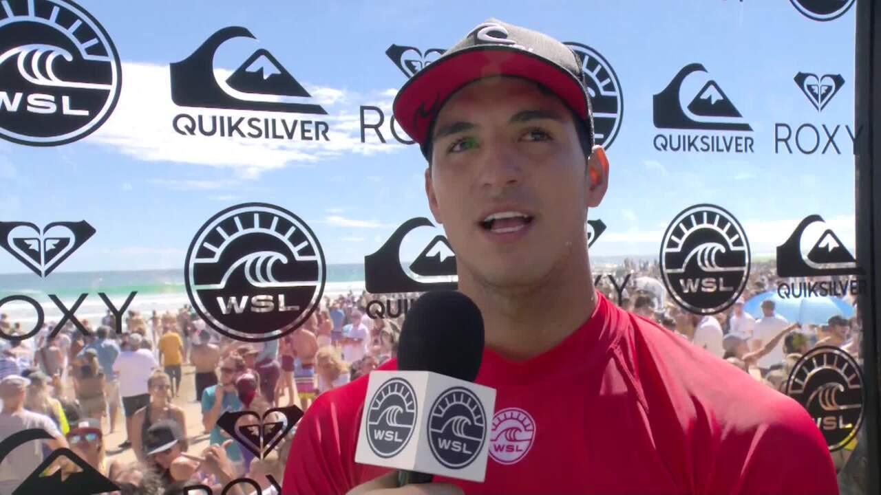 Gabriel Medina se preocupou com lesão, mas voltou em grande estilo