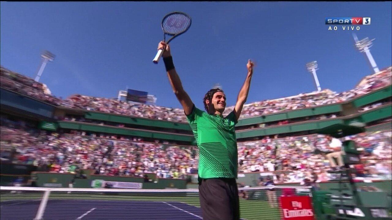Os pontos finais de Wawrinka 0 x 2 Roger Federer na final do Masters 1000 de Indian Wells