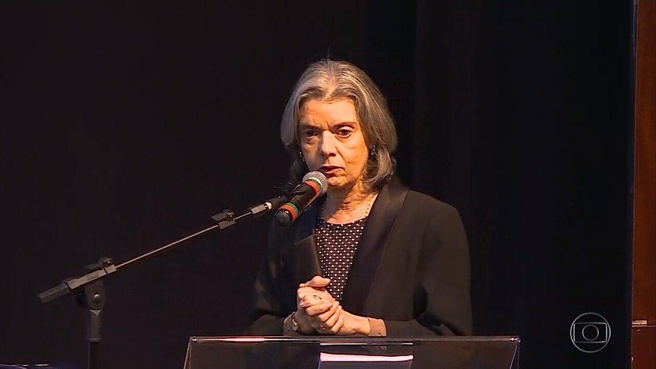 Cármen Lúcia, presidente do STF, participa de aula inaugural de Direito em Belo Horizonte
