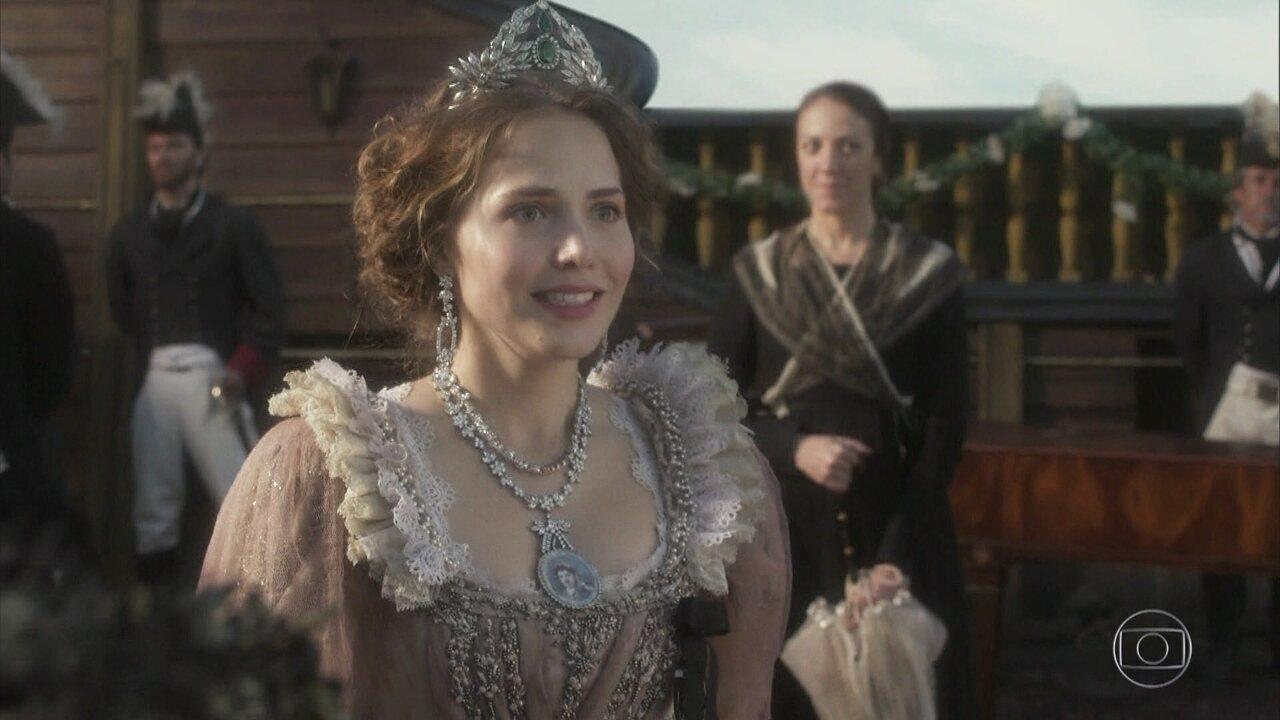 Leopoldina é apresentada a Pedro