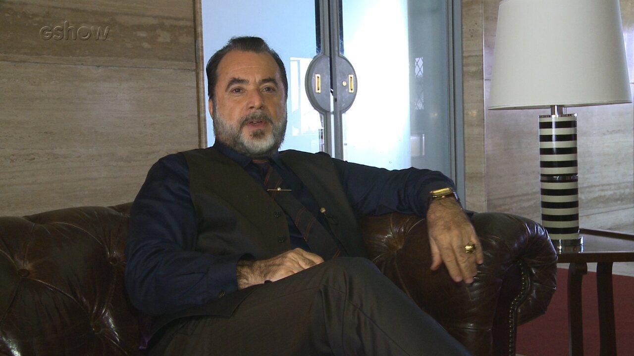 Tony Ramos comenta desafio de viver Abel em 'Vade Retro'