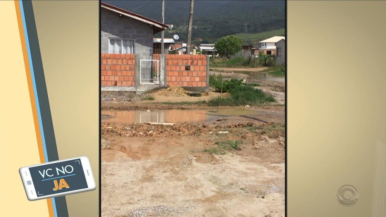 'VC no JA': Morador mostra situação das ruas do bairro Pontal, na Grande Florianópolis