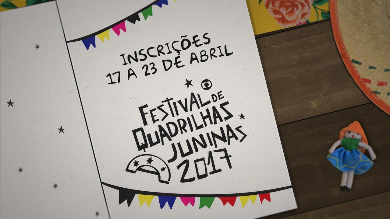 Festival de Quadrilhas da Globo inscreve pela internet