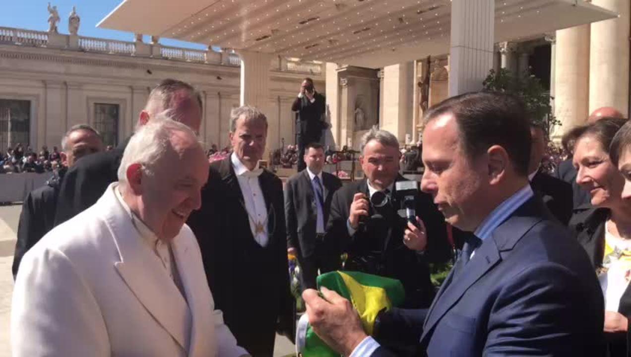 João Doria se encontrou com o Papa Francisco, no Vaticano, nesta quarta (19)