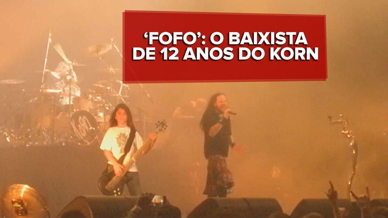 Tye Trujillo, baixista de 12 anos, é aprovado por fãs do Korn após show em SP