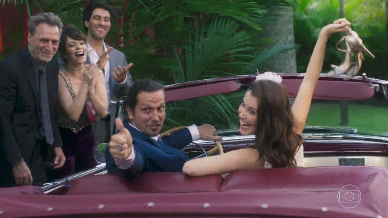 #Guilia: Gui e Júlia partem para a lua de mel no final de 'Rock Story'