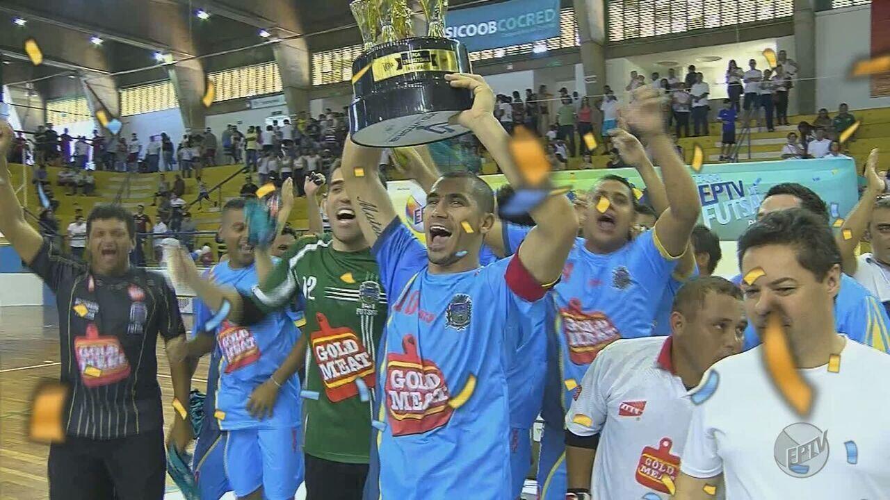 11bf34cf04 Cajuru segura Ipuã e conquista a 33ª Taça EPTV de Futsal