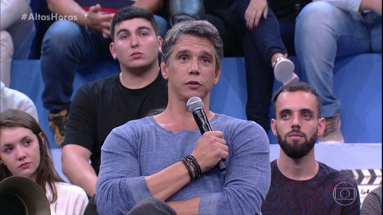 Marcio Garcia relembra 'toco' que levou com Rodrigo Santoro
