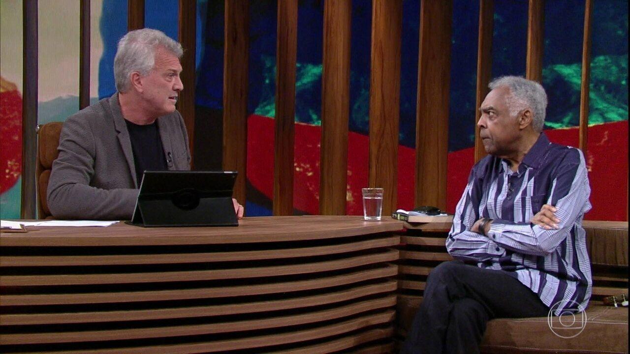 Gilberto Gil e Pedro Bial falam sobre a morte