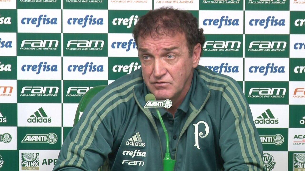 Veja a entrevista de Cuca em sua apresentação no Palmeiras