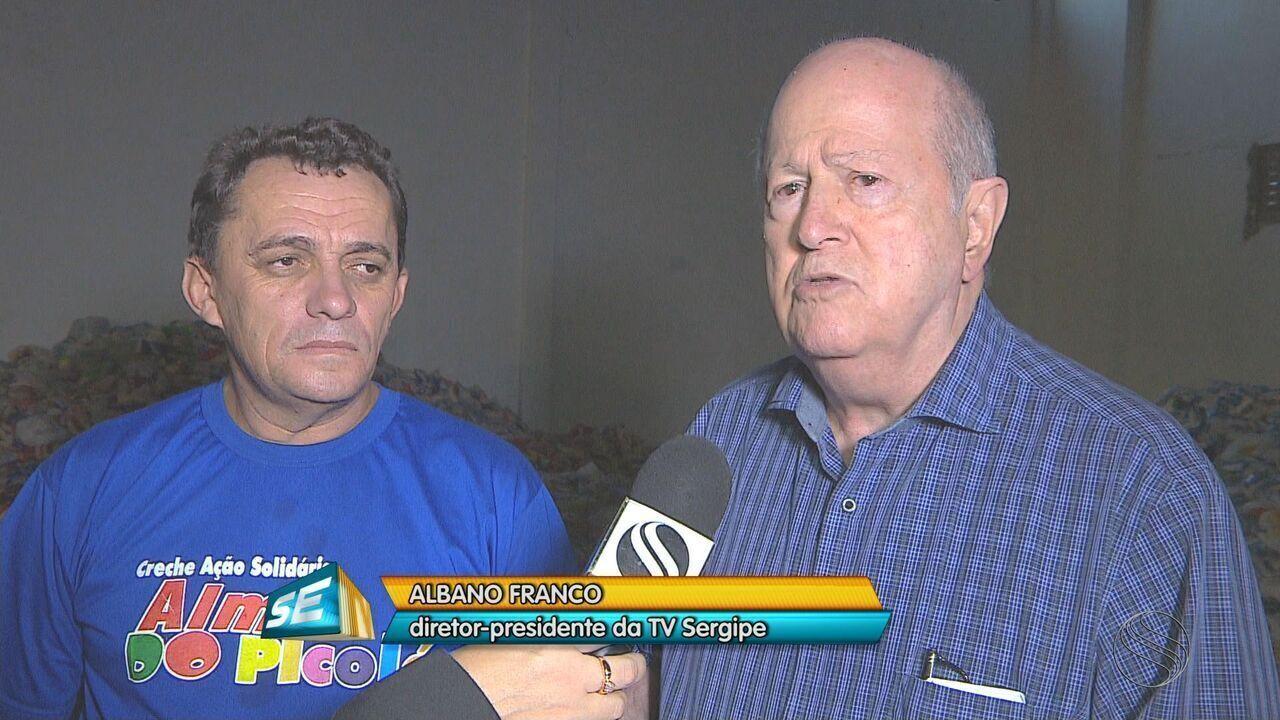 TV Sergipe começou a fazer a entrega dos alimentos arrecadados com o Forrozão 2017