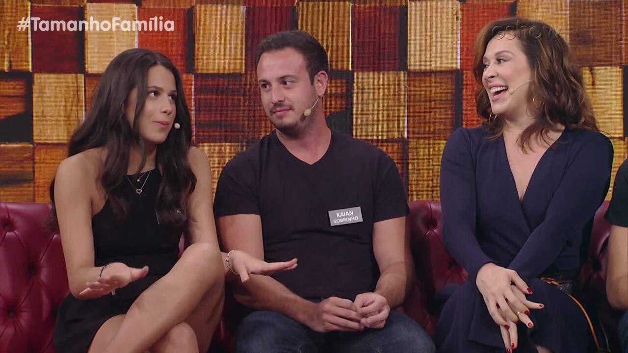 Claudia Raia fala das diferenças entre os dois filhos