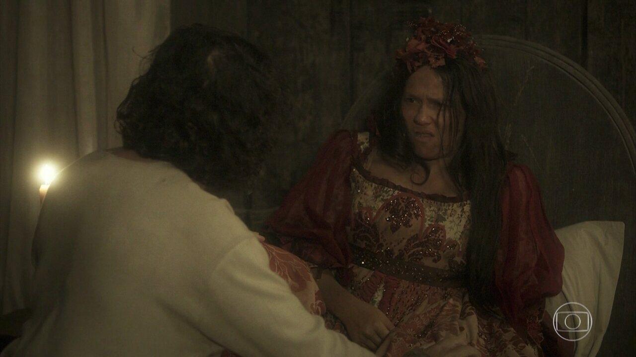 Veja cena de Licurgo e Germana na trama das 6
