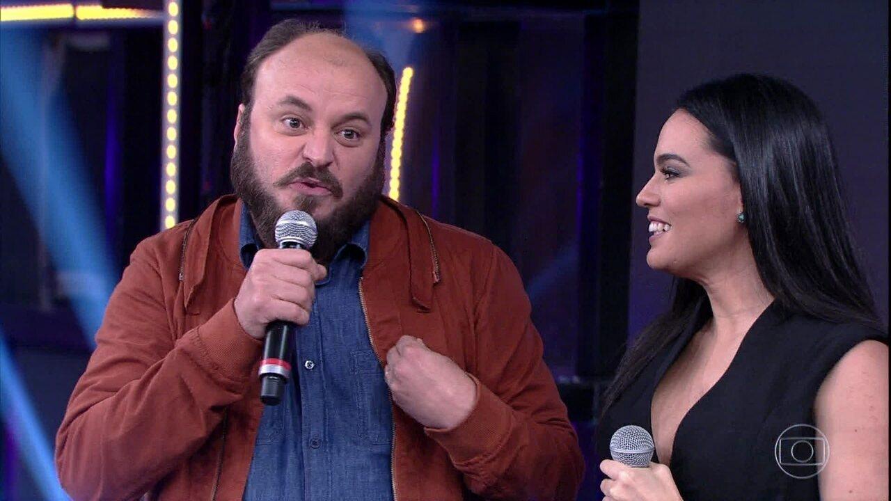 Letícia Lima e Paulinho Serra abrem o placar do 'Ding Dong'