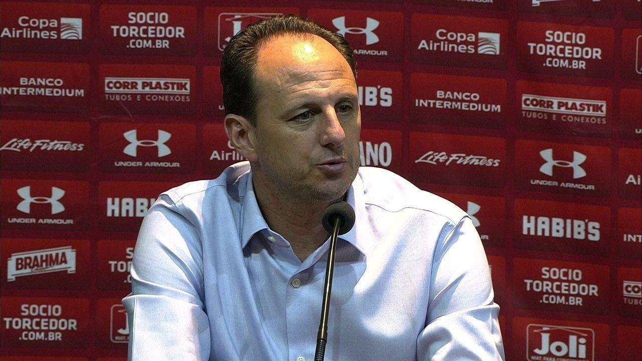 Veja a entrevista coletiva do técnico Rogério Ceni, do São Paulo