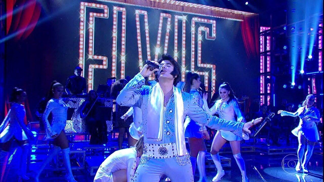 Eriberto Leão dá show como Elvis Presley