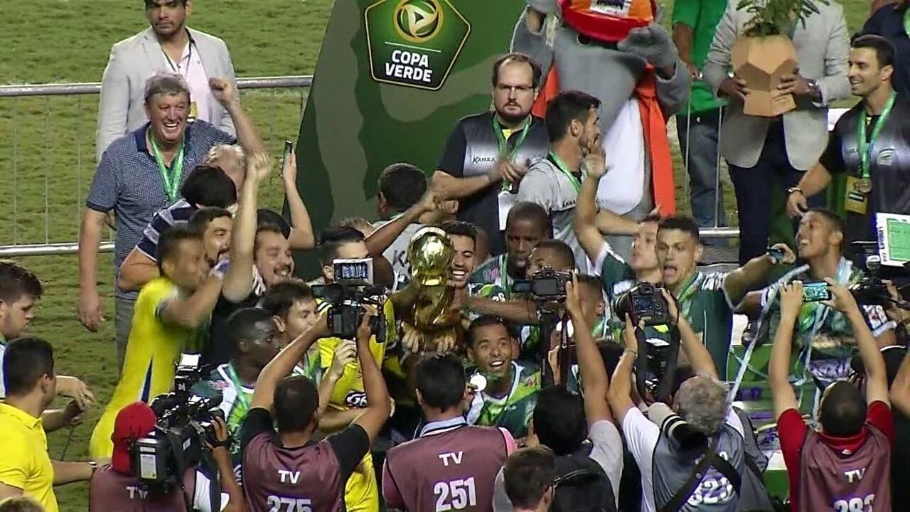 Luverdense empata com Paysandu e conquista a Copa Verde