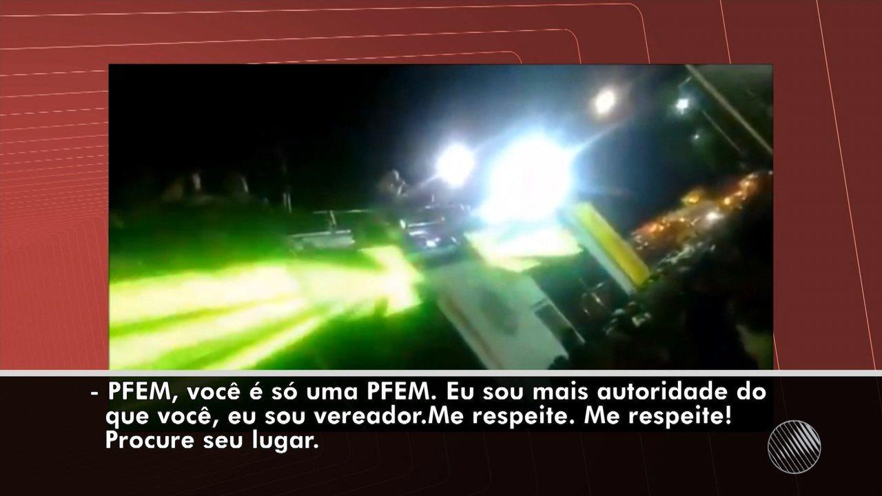 Micareta de Feira: cantor e vereador Igor Kannário se envolve em polêmica com PM feminina