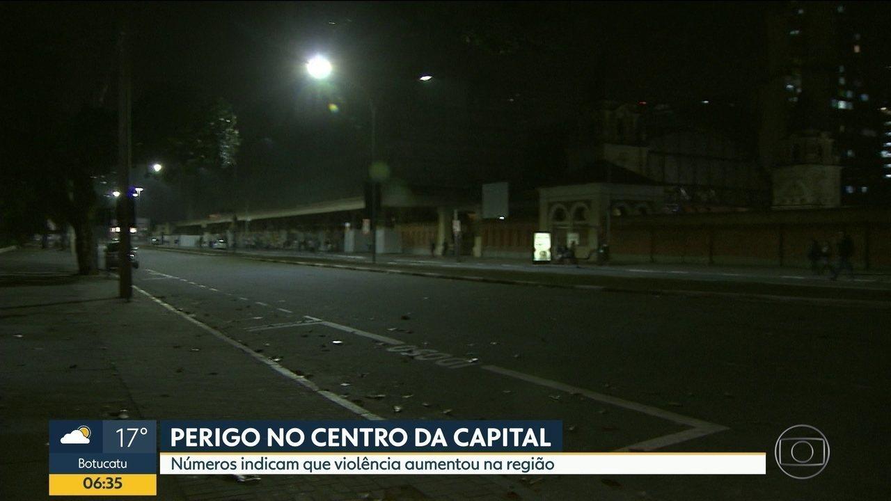 Região central tem aumento no índice de violência