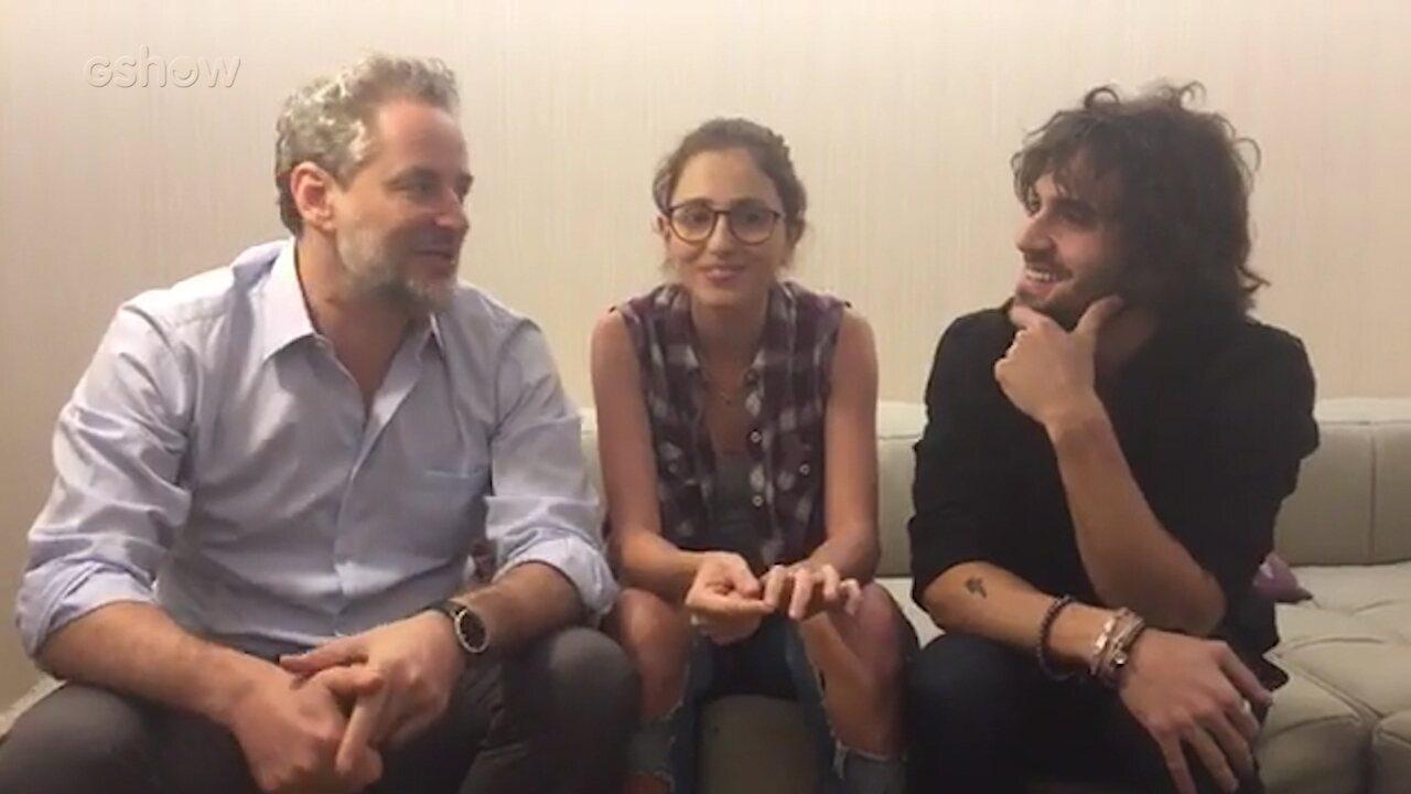 Dan Stulbach, Fiuk e Carol Duarte batem um papo nos bastidores de 'A Força do Querer'