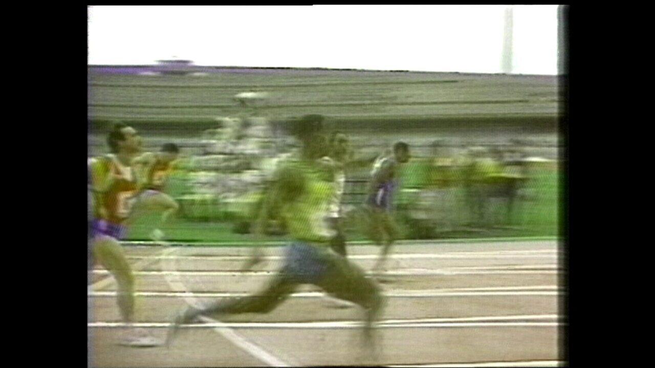 Robson Caetano vence os 100m no Campeonato Ibero-Americano de 1988