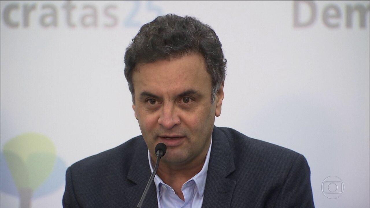 Ministro inclui denúncia contra Aécio em análise do STF