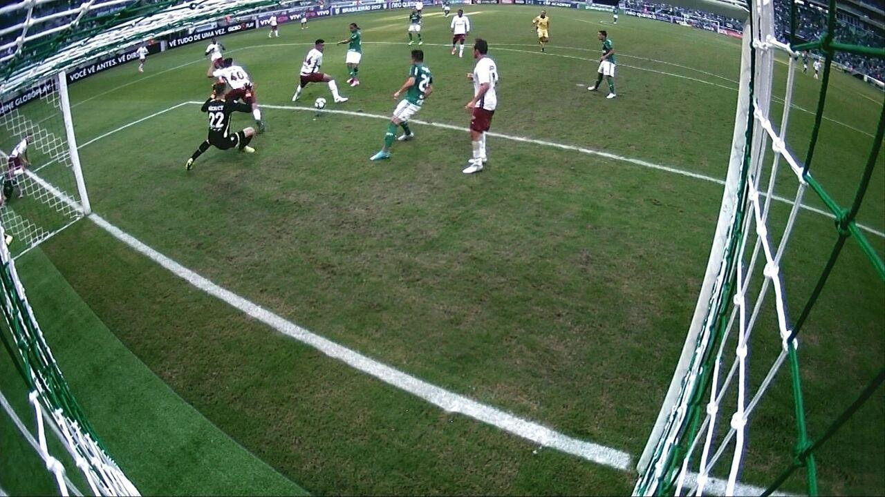 Os gols de Palmeiras 3 x 1 Fluminense pela 6ª rodada do Campeonato Brasileiro