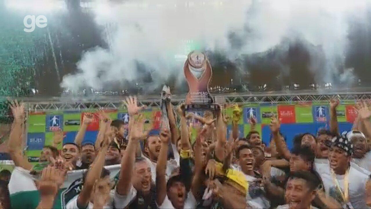 Comemoração do título Amazonense inédito do Manaus FC
