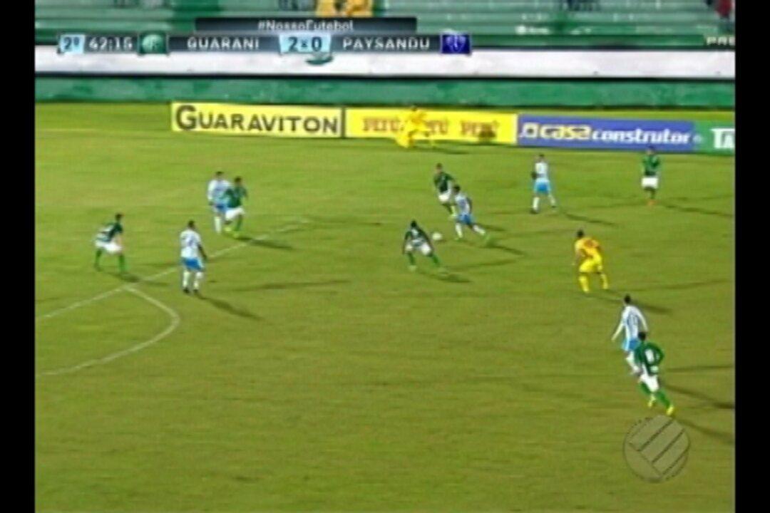 Relembre como foi o jogo entre Guarani e Paysandu, em 2017, que garantiu a trinca de vitórias