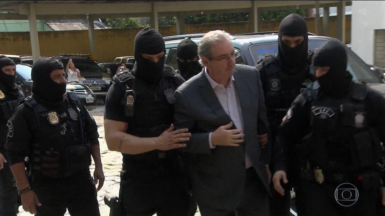 Eduardo Cunha presta depoimento sobre gravações da JBS envolvendo Michel Temer