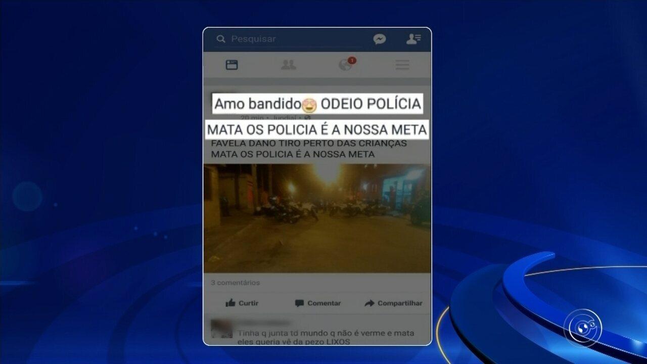 Jovem é detida por fazer ameaças a policiais militares em mensagem no Facebook