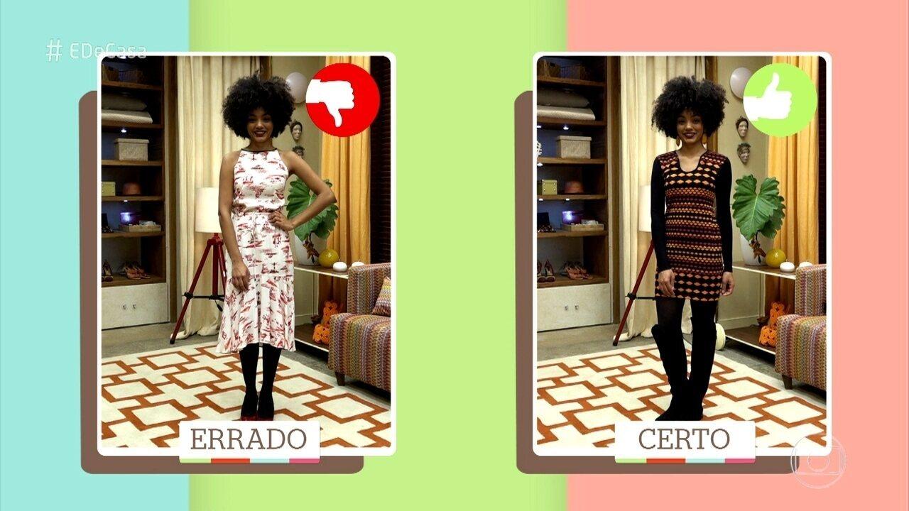 Consultora de moda Flávia Piña mostra como combinar a meia-calça com diversos estilos