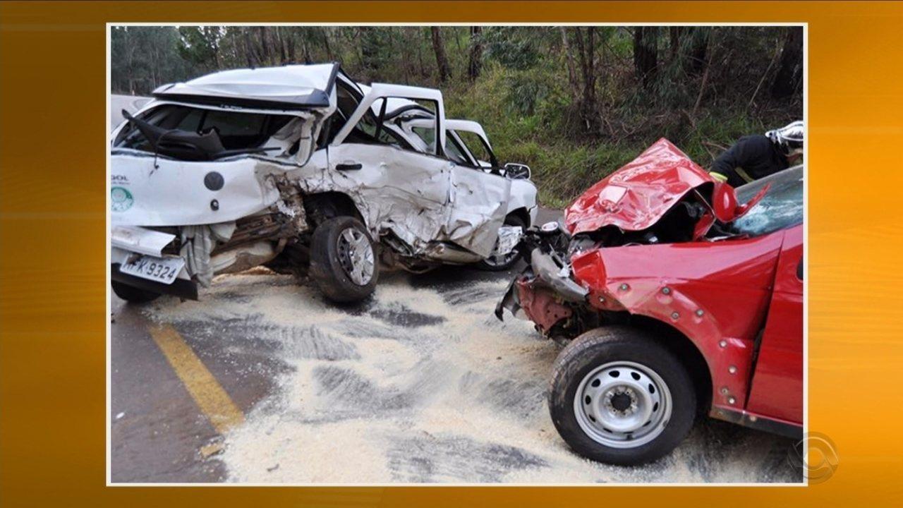 Feriadão teve nove acidentes fatais em SC