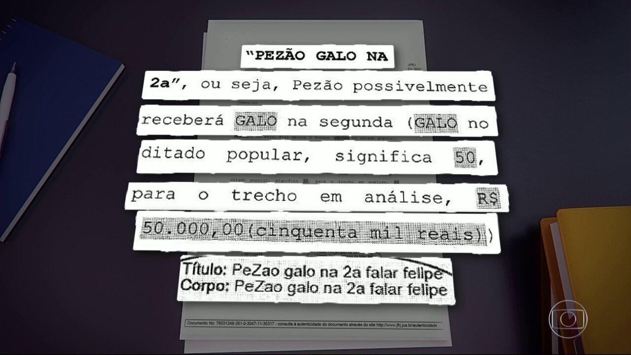 Nome do governador Pezão aparece em mensagens do celular de Luiz Carlos Bezerra