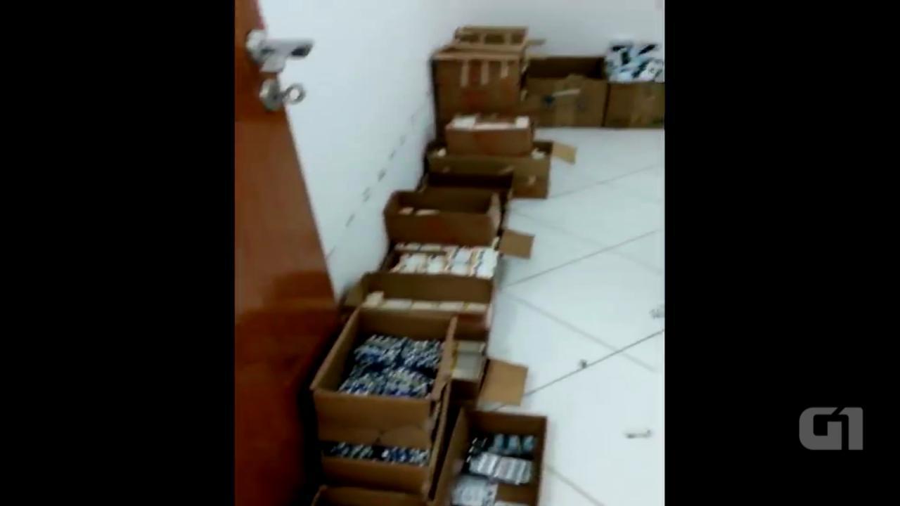 Material apreendido em São Paulo pela Polícia Federal
