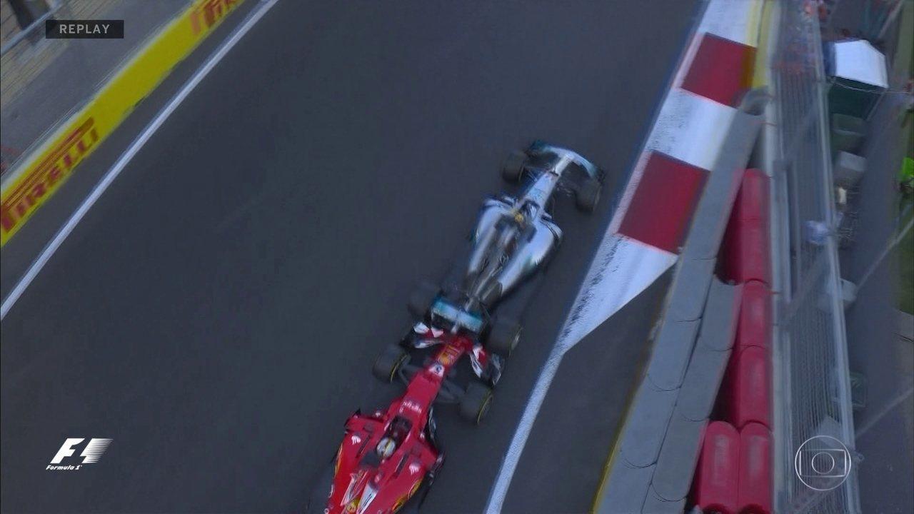 Reveja em todos os ângulos a confusão entre Vettel e Hamilton