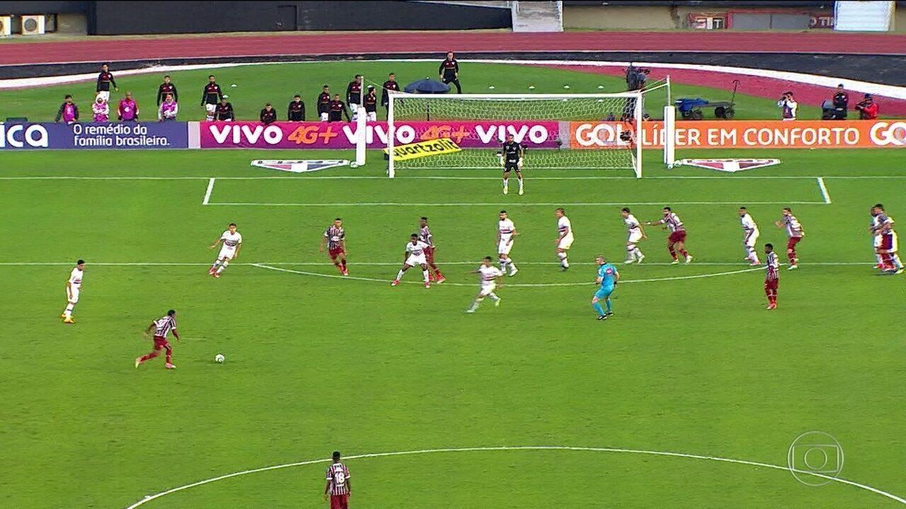 Wendel marca golaço, e Fluminense empata com o São Paulo no Morumbi