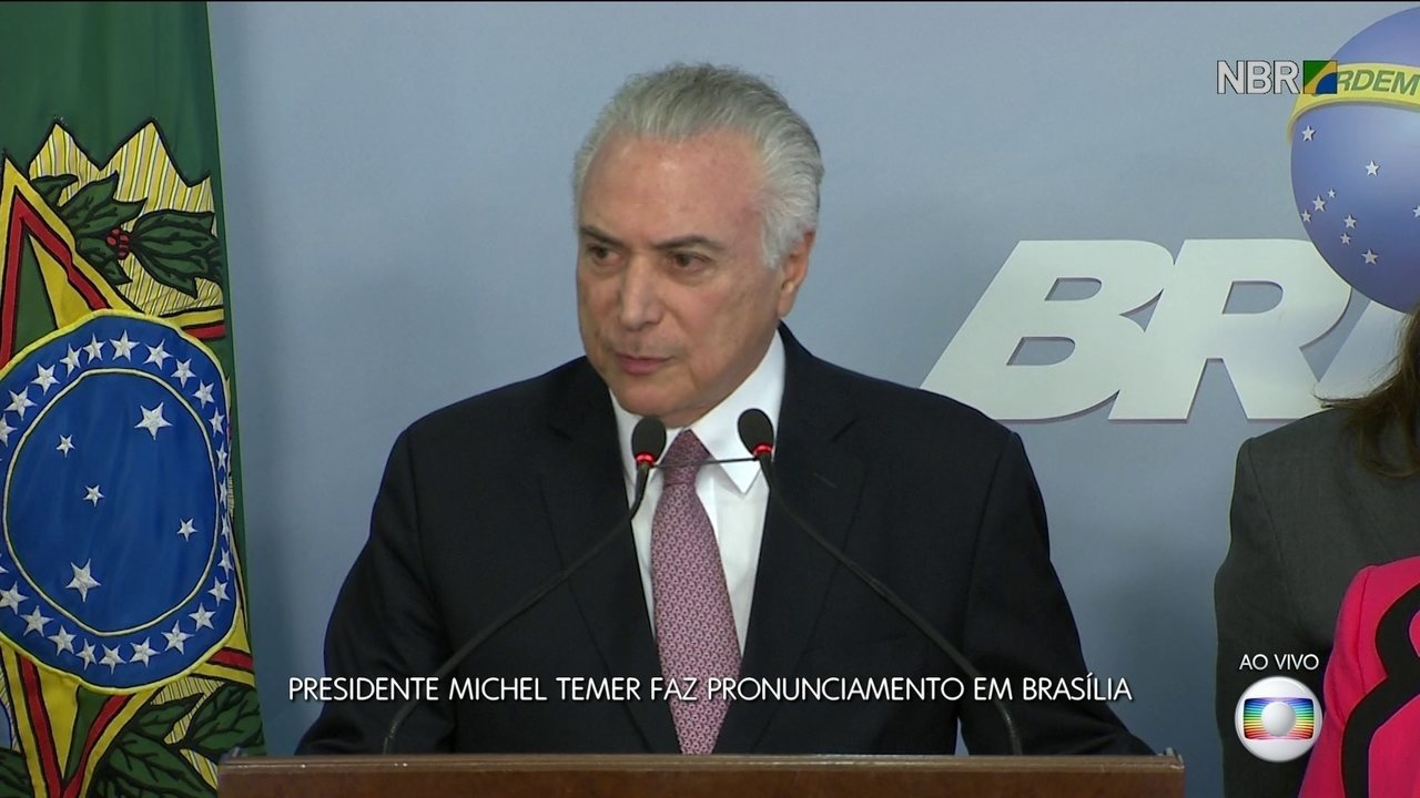 Presidente Michel Temer faz pronunciamento em Brasília