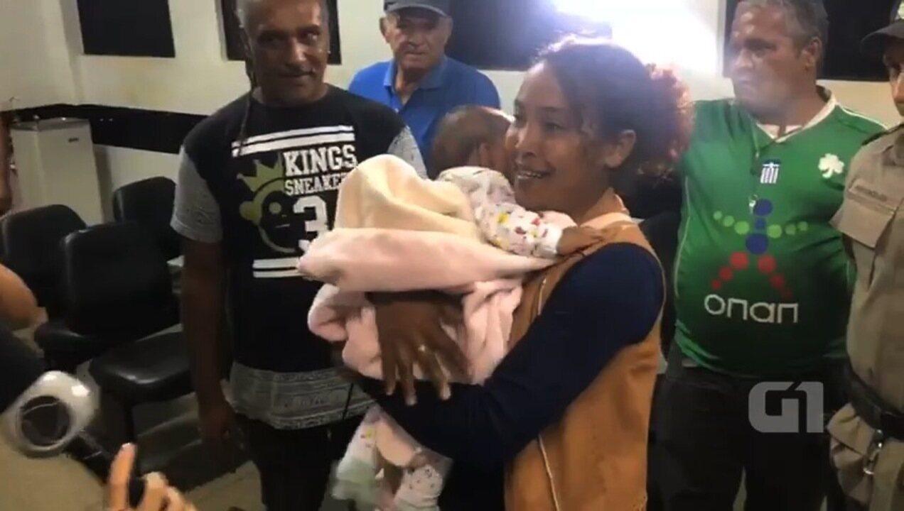 Vídeo mostra momento em que mãe reencontra bebê sequestrado, em Planaltina, GO