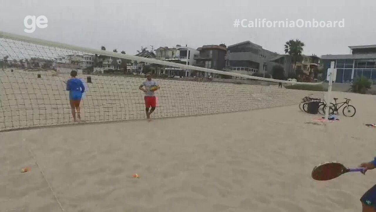 #CaliforniaOnboard: Casal de brasileiros cria liga estadual e escolinha de beach tenis
