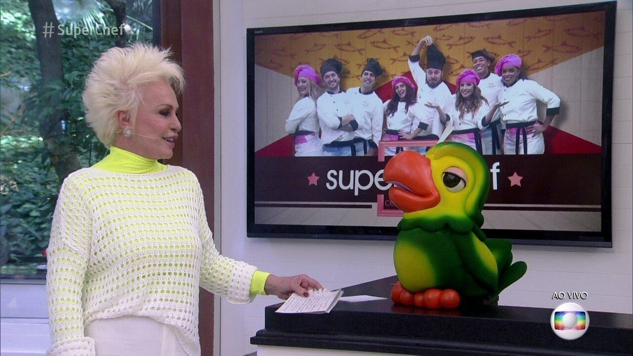 Ana Maria e Louro José brincam de pegadinha com a galera do 'Super Chef'
