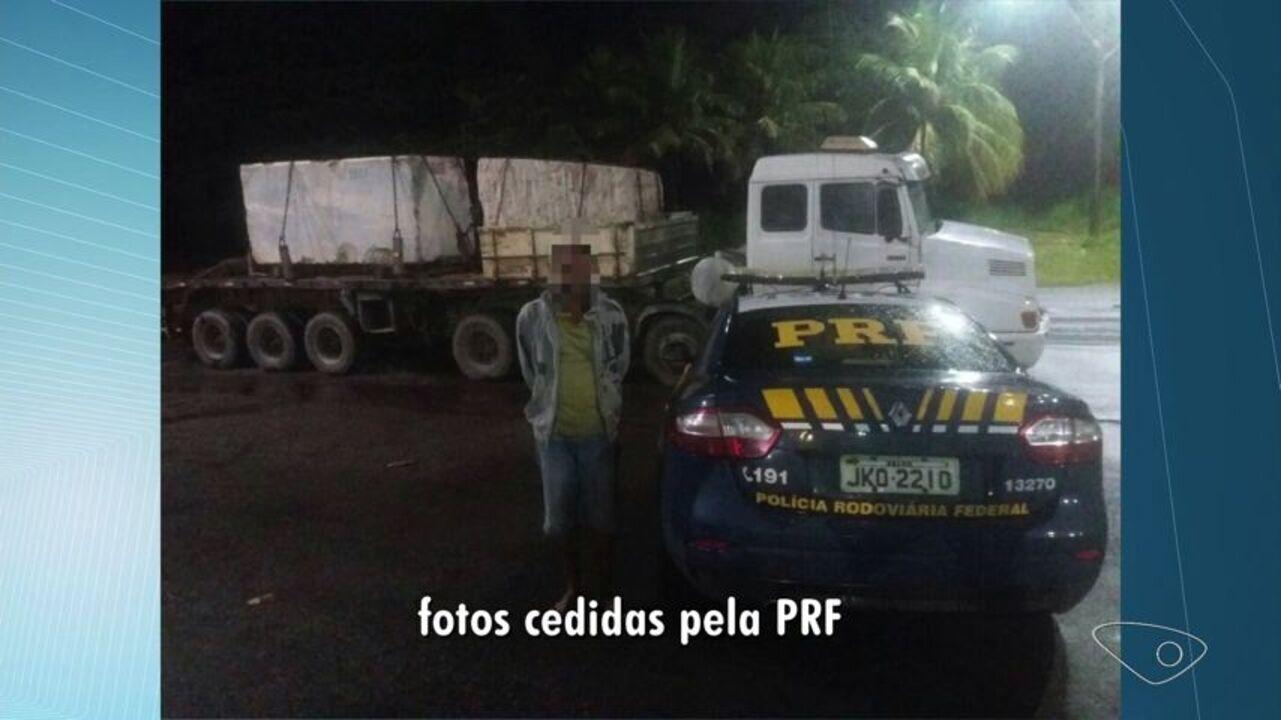 PRF flagra 112 toneladas de excesso de carga em carretas na Serra
