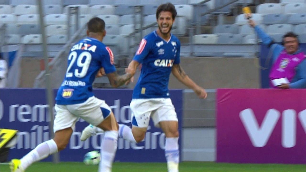 Os gols de Cruzeiro 3 x 1 Palmeiras pela 12ª rodada do Brasileirão 2017