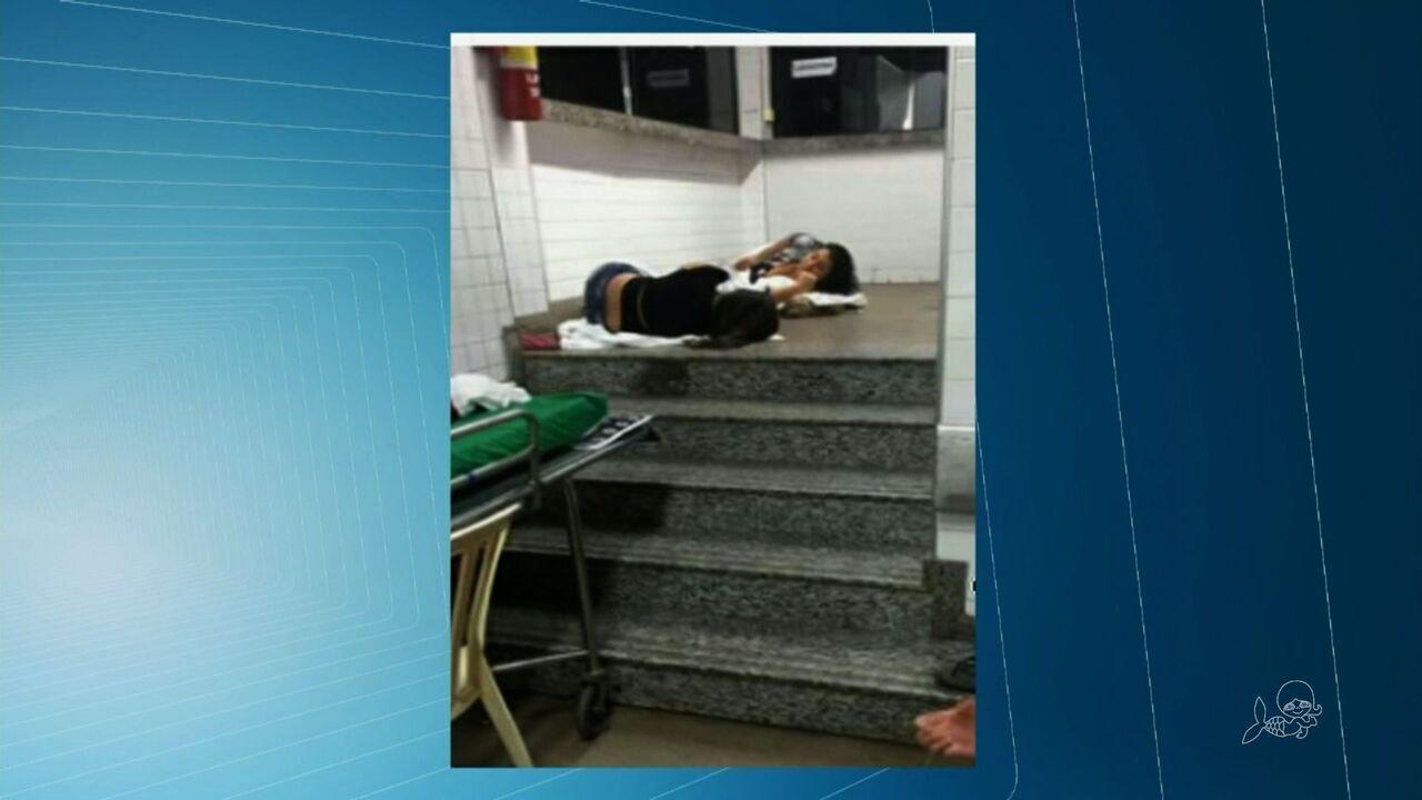 IJF sofre superlotação e tem pacientes em corredores e escadas no fim de semana