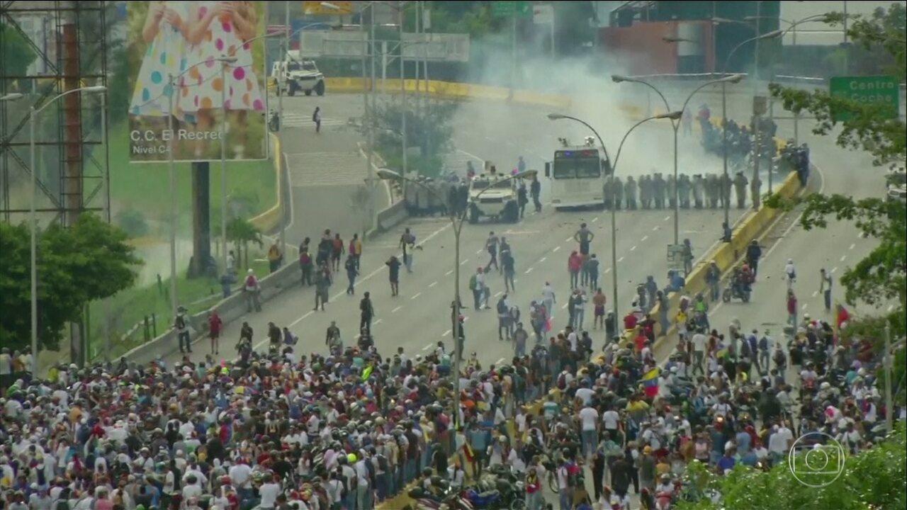 Venezuela atinge 101 dias consecutivos de manifestações