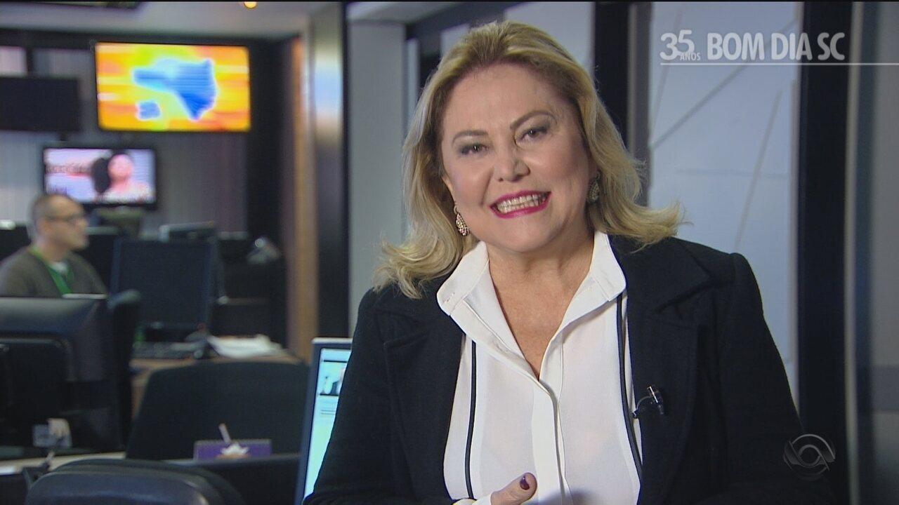 Jornalista Maria Odete relembra momentos marcantes na bancada do Bom Dia SC