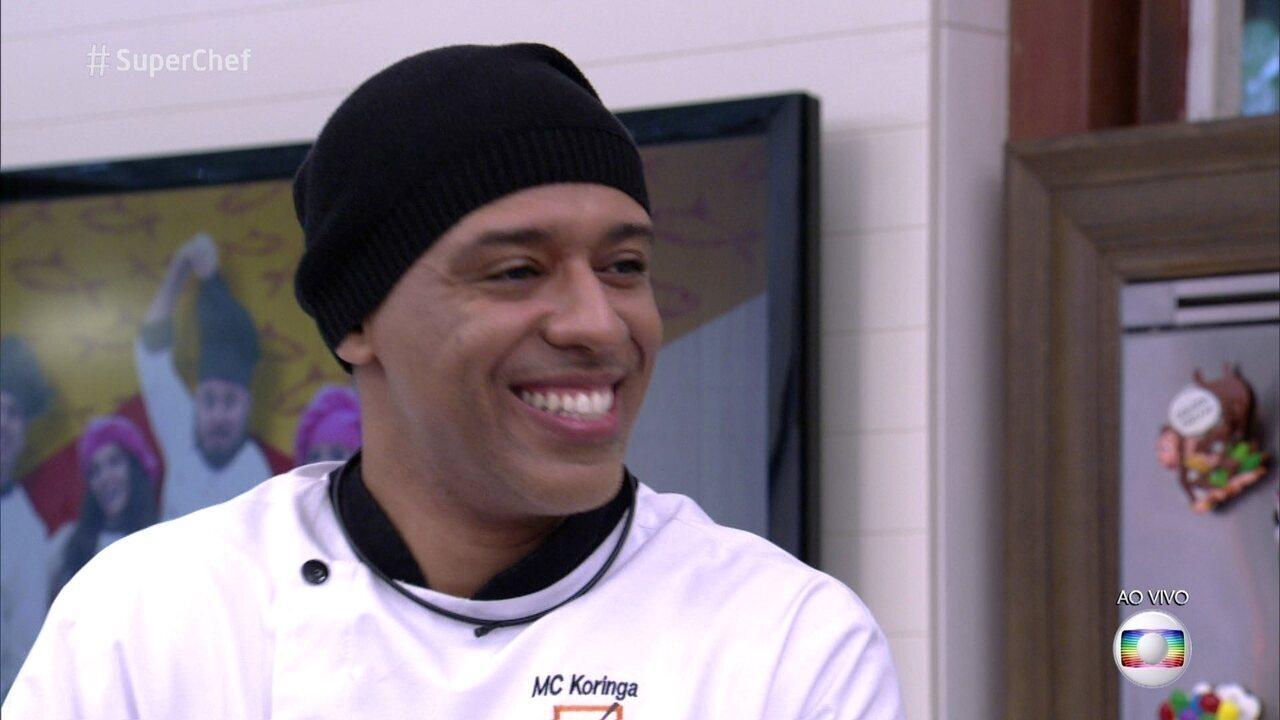 MC Koringa vence a Panela de Pressão e segue no 'Super Chef Celebridades'
