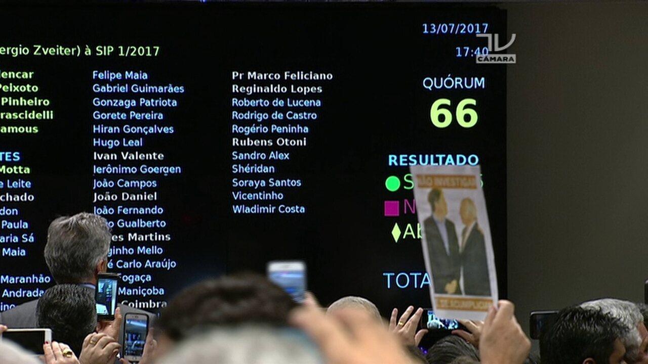 CCJ: Rodrigo Pacheco lê resultado de votação da denúncia contra Michel Temer
