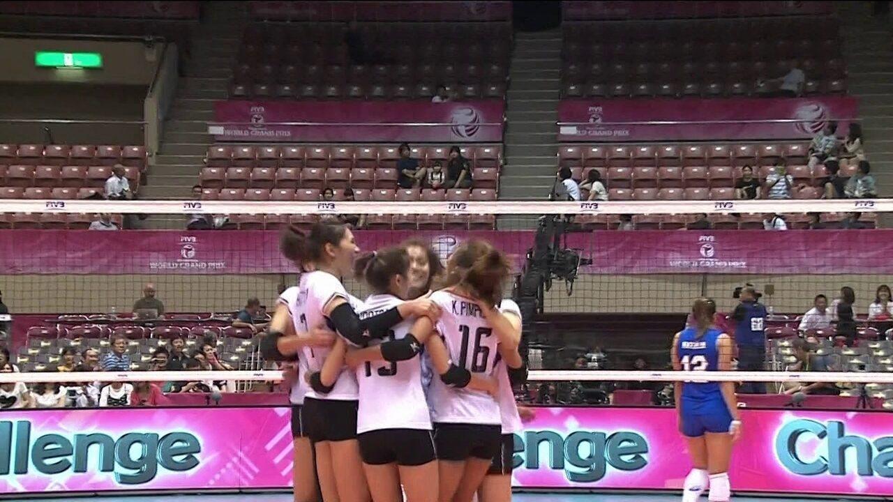 Melhores momentos de Brasil 0 x 3 Tailândia pelo Grand Prix de vôlei feminino